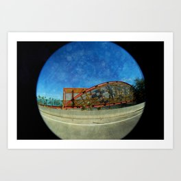 Basket Bridge Textured Art Print