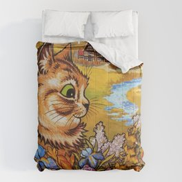 Country Cottage Cat - Louis Wain Cats Comforters