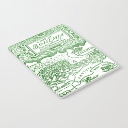Map of Bohemia (green) Notebook