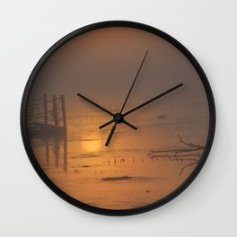 Sunrise on the Horicon Marsh Wall Clock