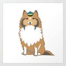 Animal Police - Collie Art Print