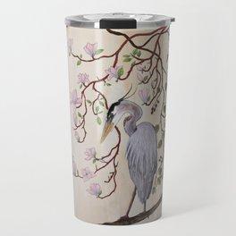 Heron bleu Travel Mug