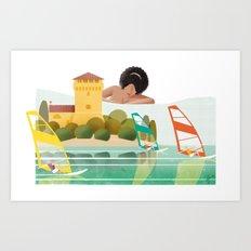 Illustre Conero - Portonovo Art Print