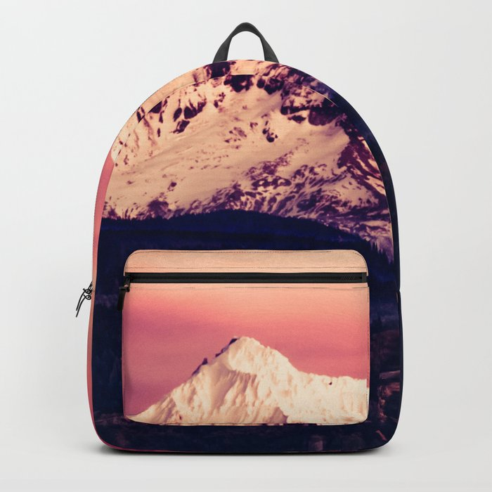 Mt Hood Mountain with Snow Backpack