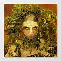 pagan Canvas Prints featuring Pagan by Charlie Terrell