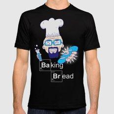 Baking Bread Mens Fitted Tee MEDIUM Black