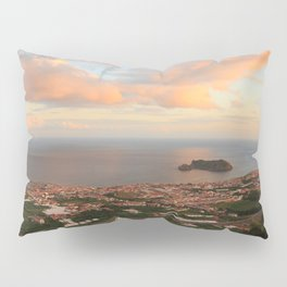 Coastal town in Azores Pillow Sham
