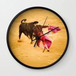 Corrida portugaise torero Wall Clock