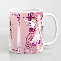 madoka Mugs featuring Madoka Kaname - Nouveau edit. by Yue Graphic Design