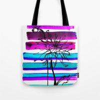 dahlia Tote Bags featuring DAHLIA by Emine Ortega