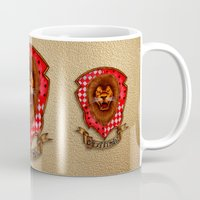 gryffindor Mugs featuring Gryffindor shield emblem by JanaProject
