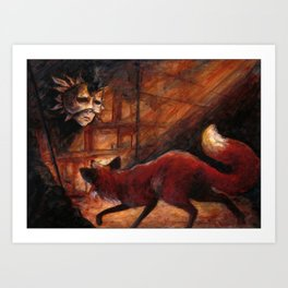 The Fox and the Mask Art Print