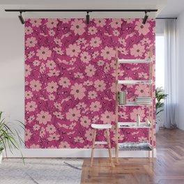 Cosmea pink Wall Mural