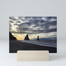 Reynisfjara at Sunset - Iceland  Edit Mini Art Print