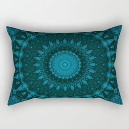 Mandala in deep blue sea tones Rectangular Pillow