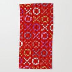 XOXO pattern - red Beach Towel