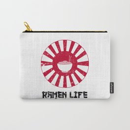 Ramen Life Japanese Noodles Lover Vintage Retro Style Japan Flag Carry-All Pouch
