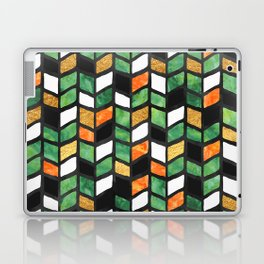 Herringbone Golden Jade Laptop & iPad Skin