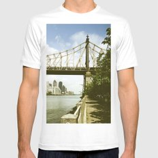 Queensboro Bridge New York City White MEDIUM Mens Fitted Tee