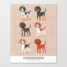 Coonhounds! Canvas Print