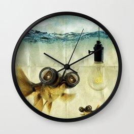 Fisheye Lens Goldfish Wall Clock