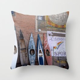 Kayaks in Colorado Throw Pillow