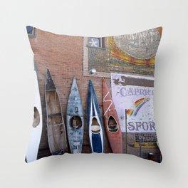 Kayaks in Colorado Throw Pillow