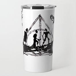 The Three Brothers Inktober Drawing Travel Mug