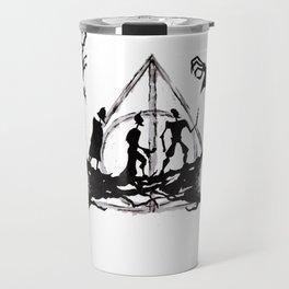 The Three Brothers Inktober Drawing Travel Mug