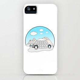 Cute penguins iPhone Case