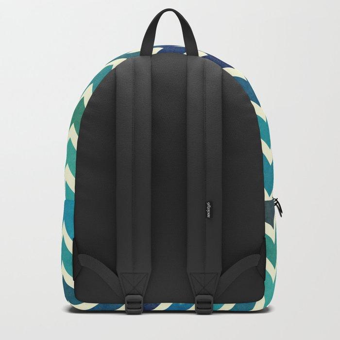 Colorful Chevron Pattern V Backpack