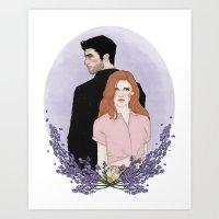 lydia martin Art Prints featuring Derek Hale/Lydia Martin by vulcains