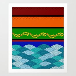 line and wave Art Print
