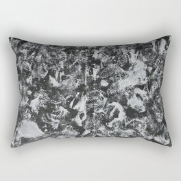 White Ink on Black Background #1 Rectangular Pillow