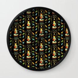 Egyptian Decorative Pattern Wall Clock