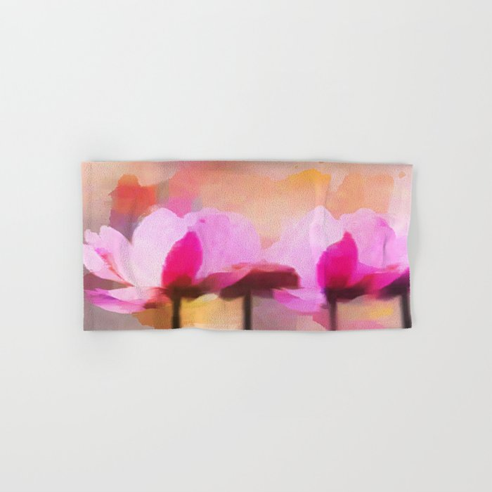 Anemone abstract hand painted Hand & Bath Towel