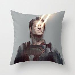 Man of Steel Throw Pillow