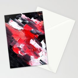 2 Fires, Acrylic on canvas Stationery Cards