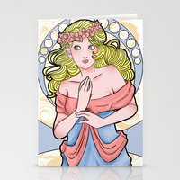 art nouveau Stationery Cards featuring Art Nouveau  by Brizy Eckert
