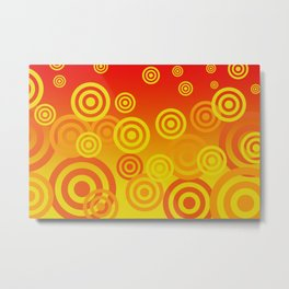 Spirals yellow orange - Yellow orange Background Metal Print