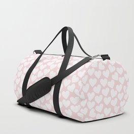 Pink & White - Valentine Love Heart Pattern - Mix & Match with Simplicty of life Duffle Bag