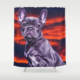 Frenchie The French Bulldog Shower Curtain