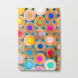 COLORED PENCILS 2 Metal Print