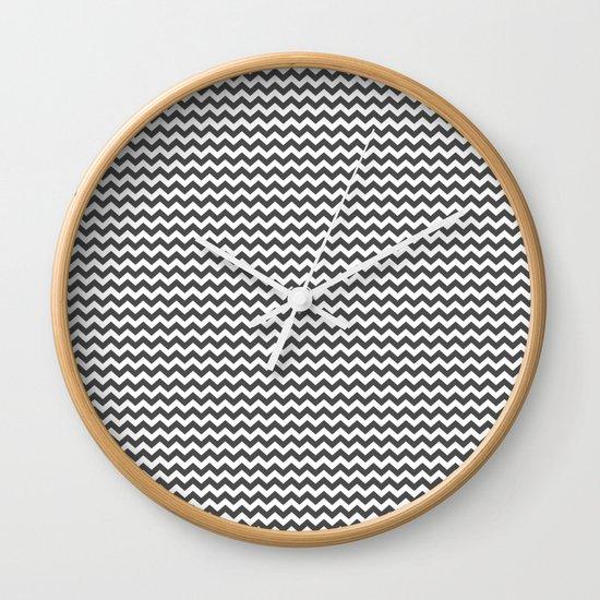 Chevron Grey Wall Clock