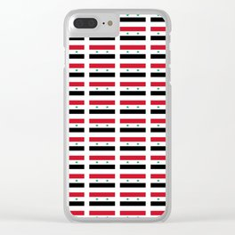 flag of syria -syrian,aleppo,damascus,assyrian,سوريا Clear iPhone Case