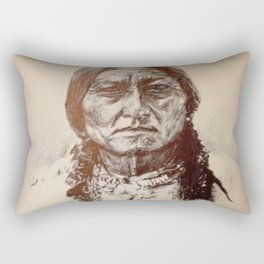 Sitting Bull Rectangular Pillow