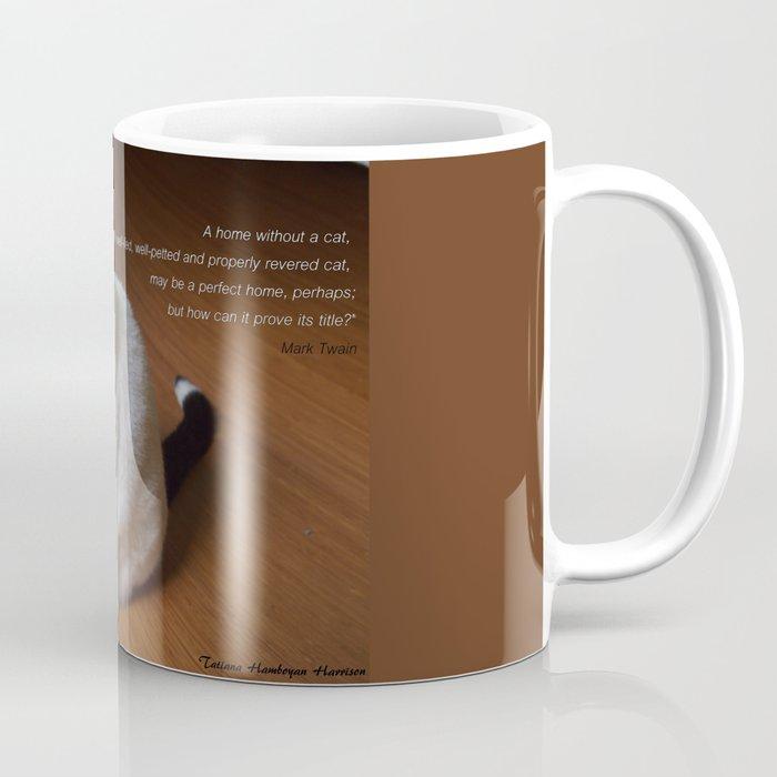 Cat with Mark Twain quote Coffee Mug