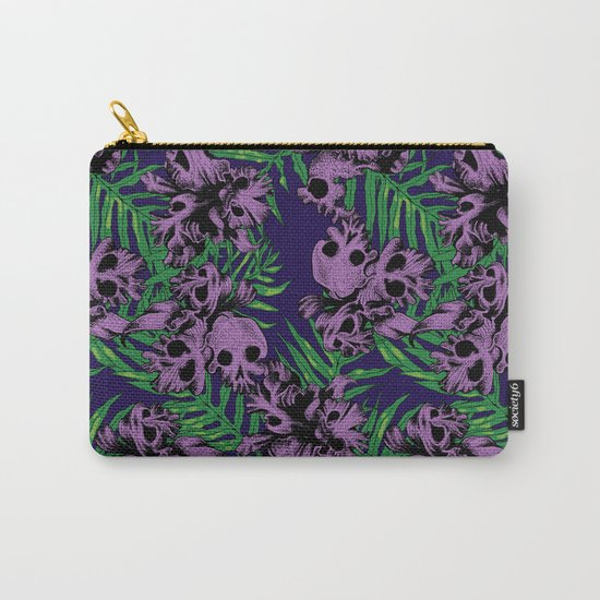 Orchid Skulls Carry-All Pouch