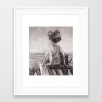 kiki Framed Art Prints featuring Kiki by Kimberly Castello