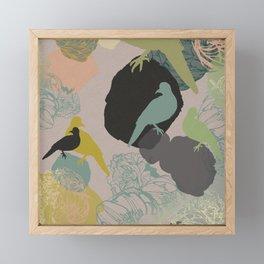 Birds on rocks Framed Mini Art Print